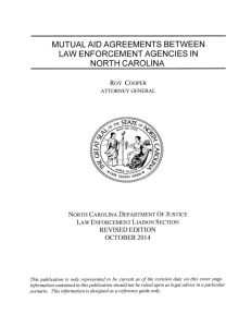 Mutual Aid Agreements Between Law Enforcement Agencies in