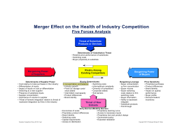 Merger Effect on the Health of Industry Competition