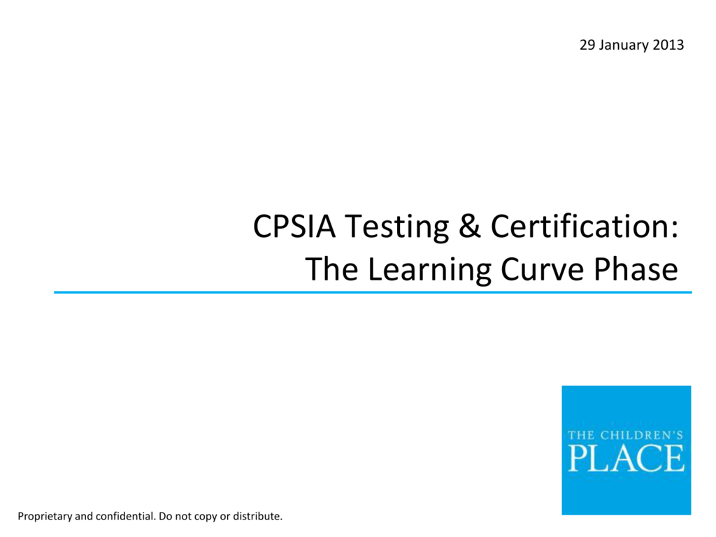 Cpsia Testing Certification The Learning Curve Phase