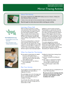 Mirror-Tracing Activity - Howard Hughes Medical Institute