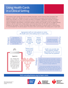 Flow Chart for Using Health Cards in a Clinical