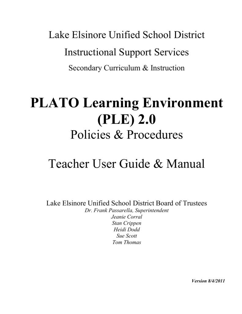 Ple platoweb answers us history array teacher user guide and manual lake elsinore unified school rh studylib fandeluxe Images