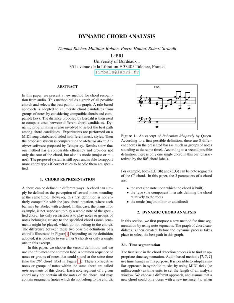 Dynamic chord analysis music hexwebz Gallery
