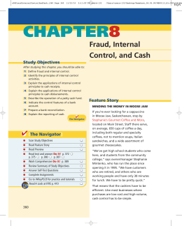 Chapter 8 Fraud, Internal Control, and Cash
