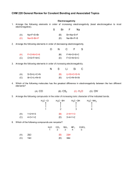 CHM 1321A Assignment 1 Answers  CHM 1321A Assig...