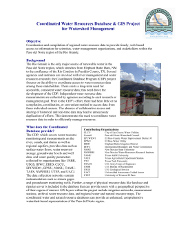 Coordinated Water Resources Database & GIS Project for