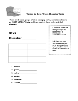 Boot Verbs Instructional Sheet