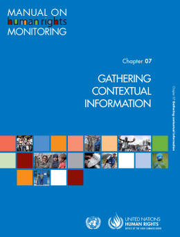 GATHERING CONTEXTUAL INFORMATION
