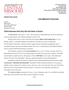 NEWS RELEASE - University of Central Missouri