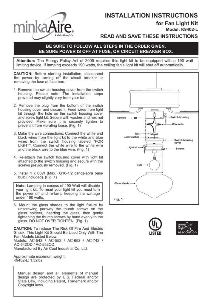 installation instructionsAc 652 Ceiling Fan Wiring Diagram #5
