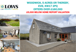 WOODWICK, 5 ACRES OR THEREBY, EVIE, KW17 2PQ OFFERS