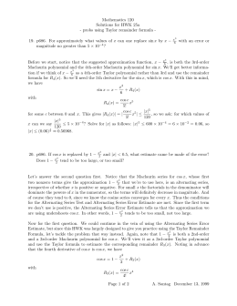 Mathematics 120 Solutions for HWK 25a