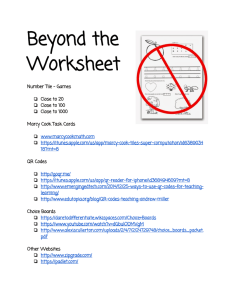 Beyond the Worksheet