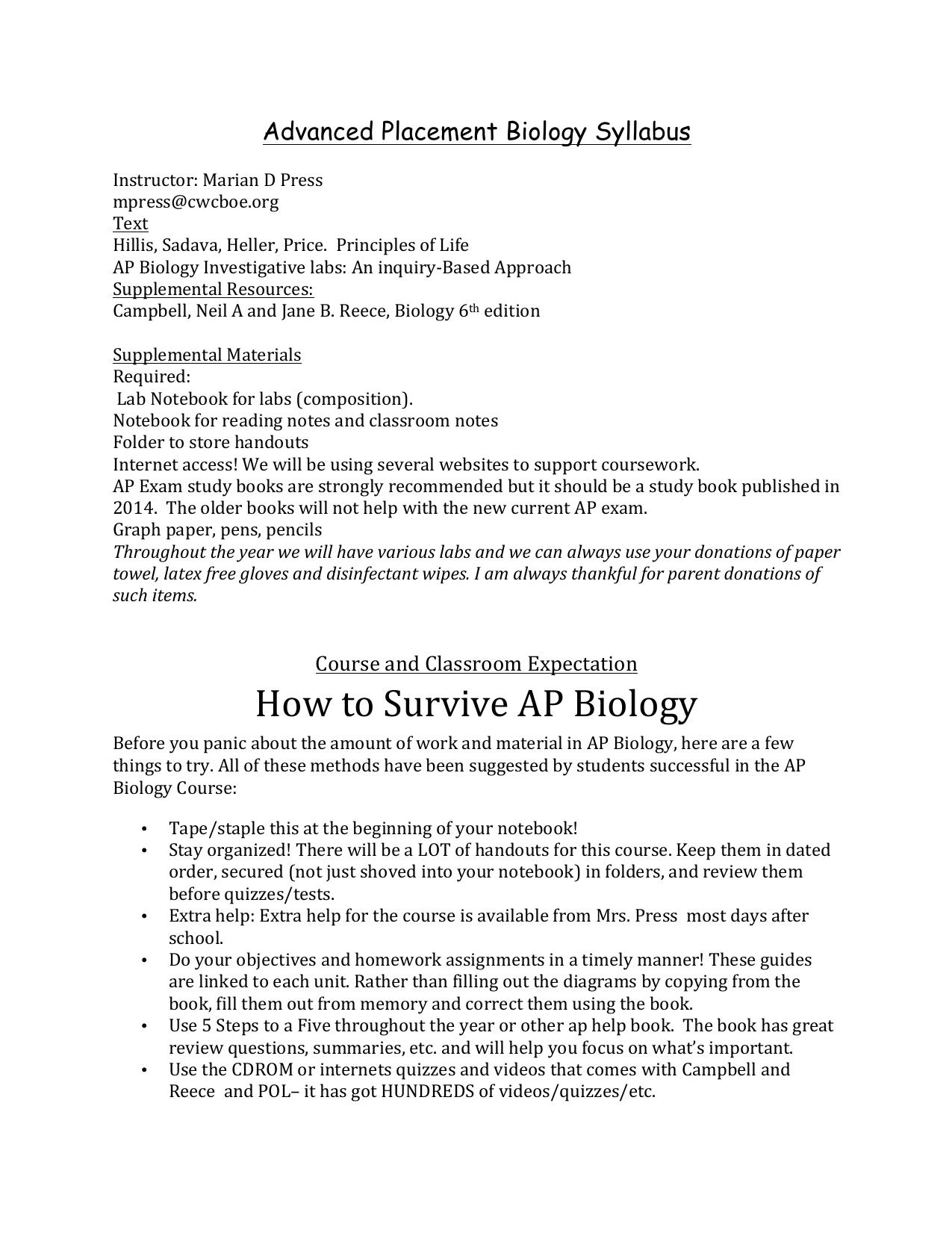 ap bio essay chi square
