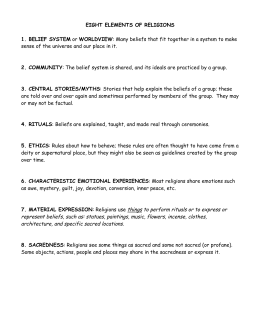 Eight Elements Of Religions 1 Belief System Or