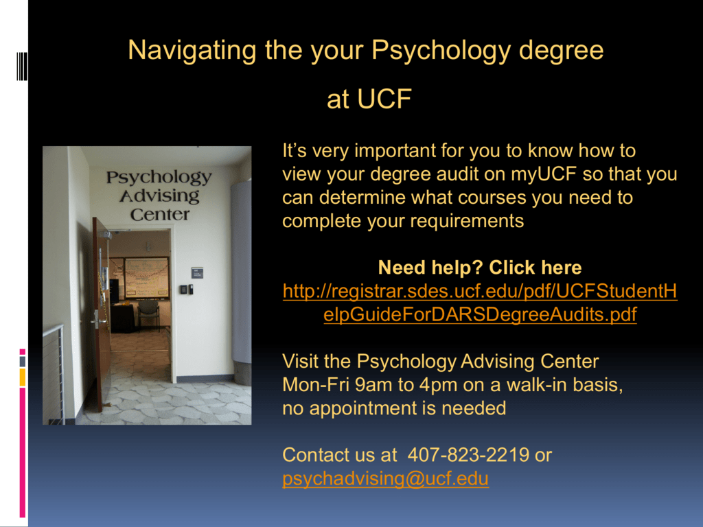Navigating the your Psychology degree at UCF
