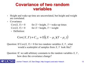 Covariance of two random variables