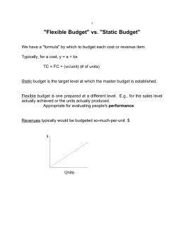 """Flexible Budget"" vs. ""Static Budget"""