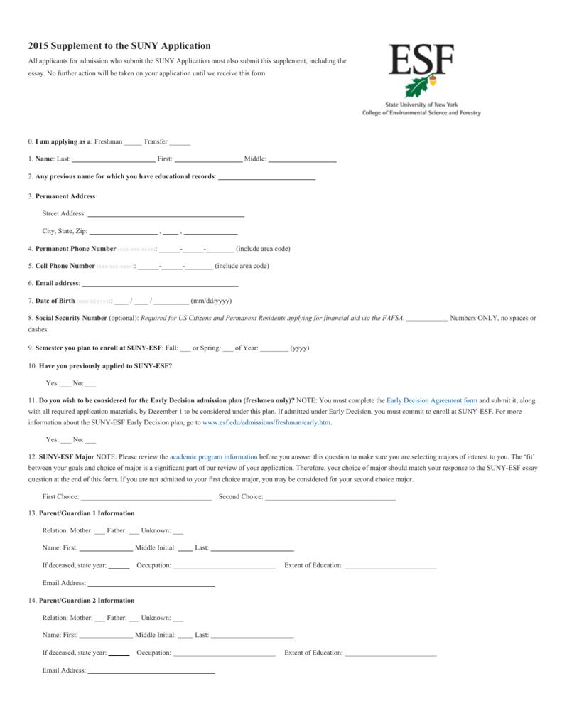 suny application essay 2015