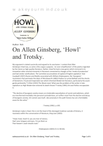 On Allen Ginsberg, 'Howl' and Trotsky.