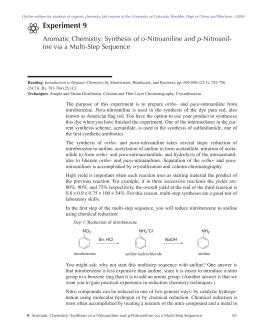p nitroaniline from acetanilide