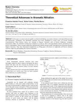 Theoretical Advances in Aromatic Nitration