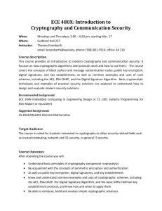 ECE 480X: Introduction to Cryptography and Communication Security