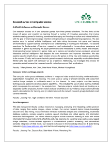 Research Areas in Computer Science, UNCC