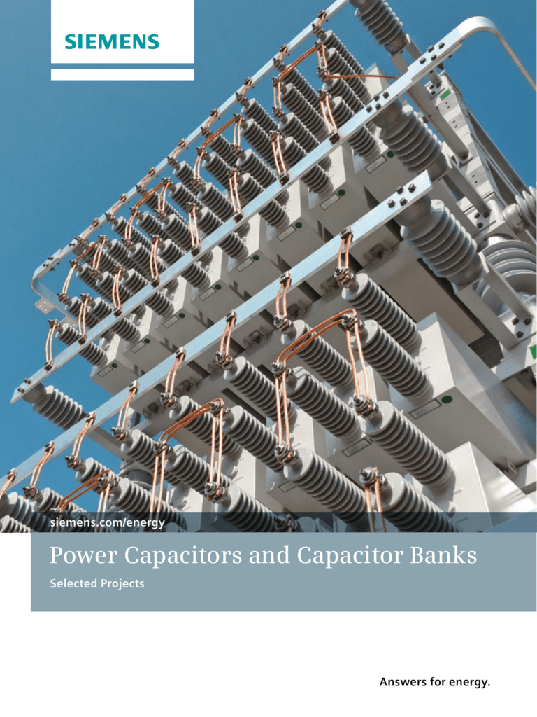 Power Capacitors And Capacitor Banks