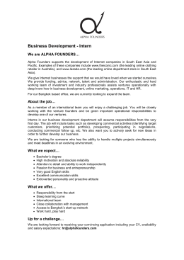 Business Development - Intern