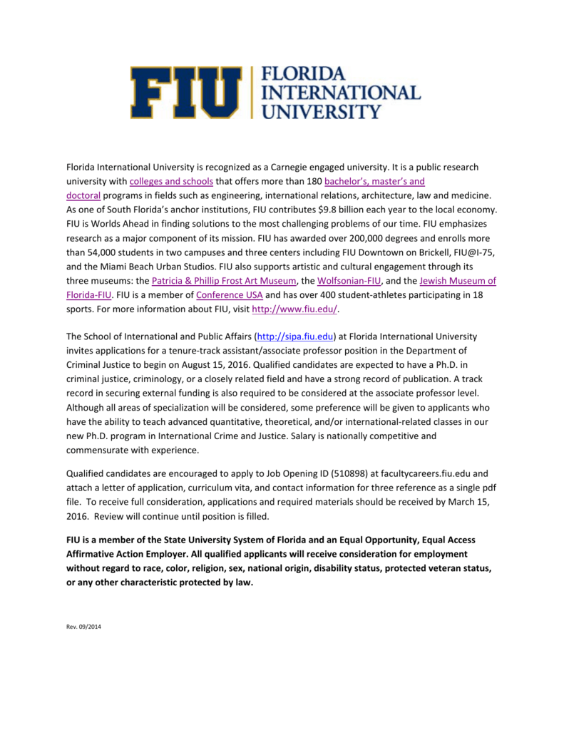 florida international university is recognized as a carneg