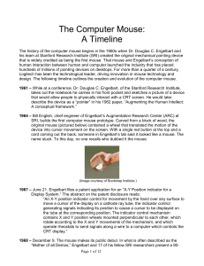 The Computer Mouse: A Timeline