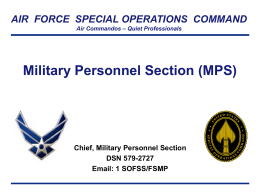 Military Personnel Section - Hurlburt Field Force Support Squadron
