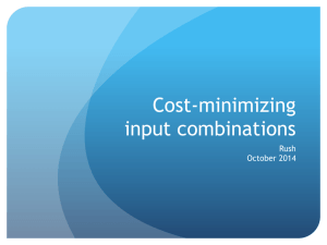 Cost-minimizing input combinations - Rush's PAGES -->