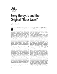 "Berry Gordy Jr. and the Original ""Black Label"""