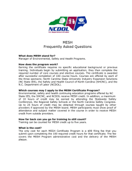 MESH Frequently Asked Questions