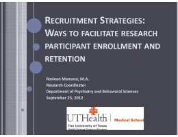 RECRUITMENT STRATEGIES RECRUITMENT STRATEGIES