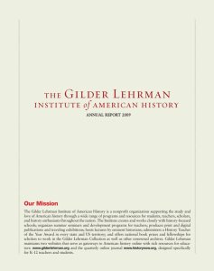 Our Mission - The Gilder Lehrman Institute of American History