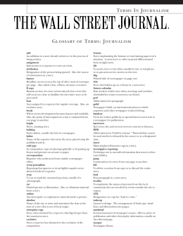 glossary of journalism terms pdf