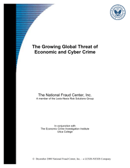 The Growing Global Threat of Economic and Cyber Crime