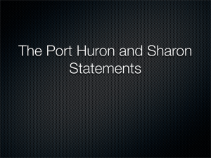 Port Huron and Sharon Statements
