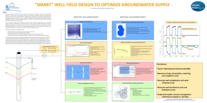 Designing a Smart Well Field to Optimize Groundwater Production