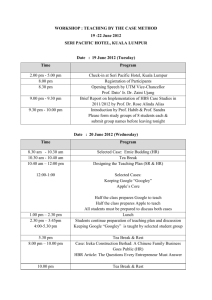 Tentative-HBS Workshop UTM_2012