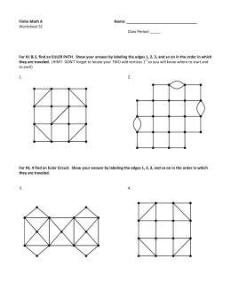 Finite Math A Name: Worksheet 5C Class Period: _____ For #1 & 2