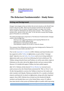 The Reluctant Fundamentalist – Study Notes