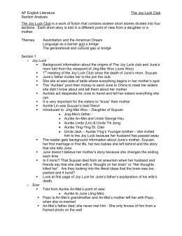 Joy Luck Club Essay  Free English Literature Essays Joy Luck Club Essay