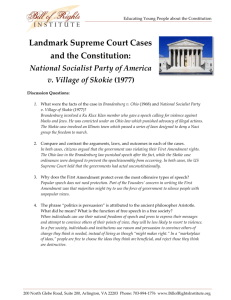 Landmark Supreme Court Cases and the Constitution: