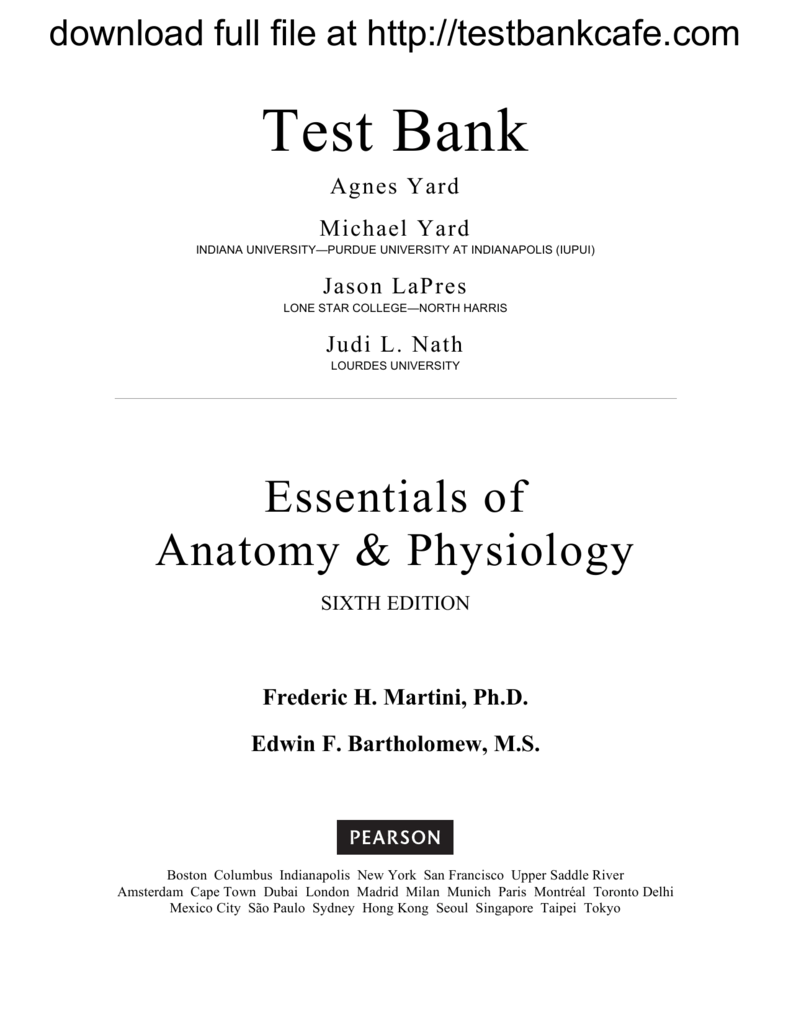 FREE Sample Here - We can offer most test bank and