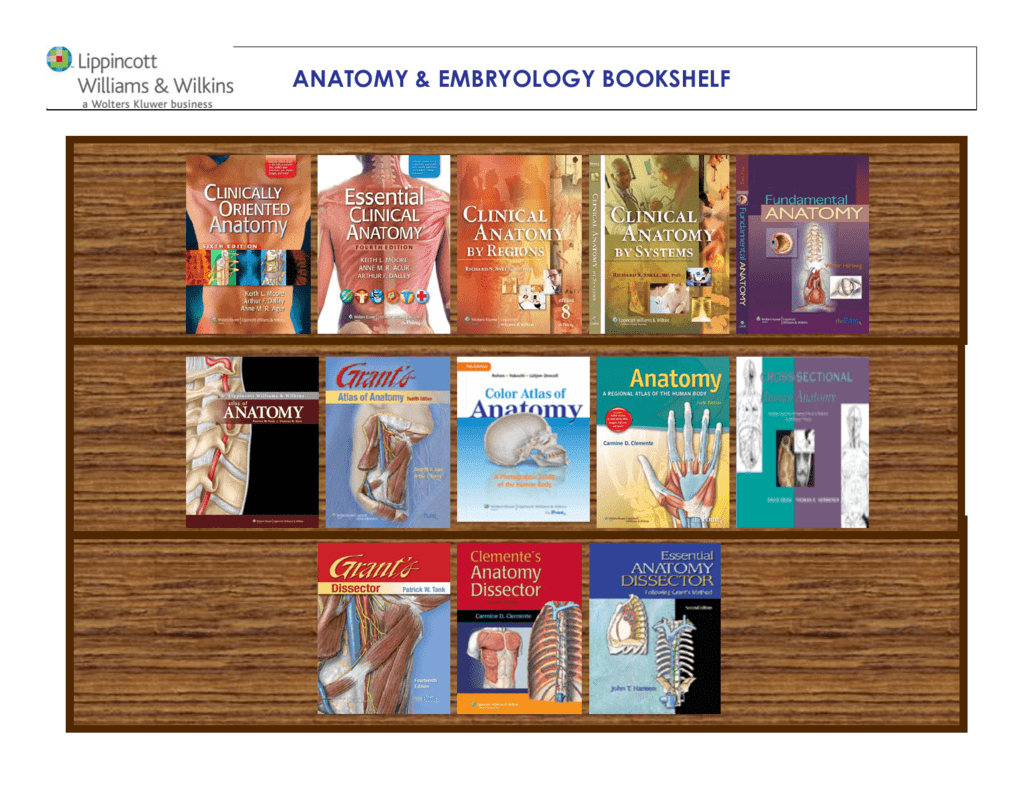 ANATOMY & EMBRYOLOGY BOOKSHELF