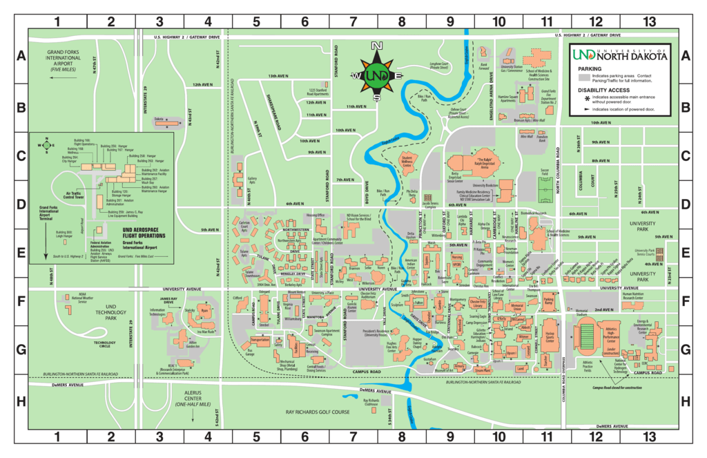 Campus Map   University of North Dakota